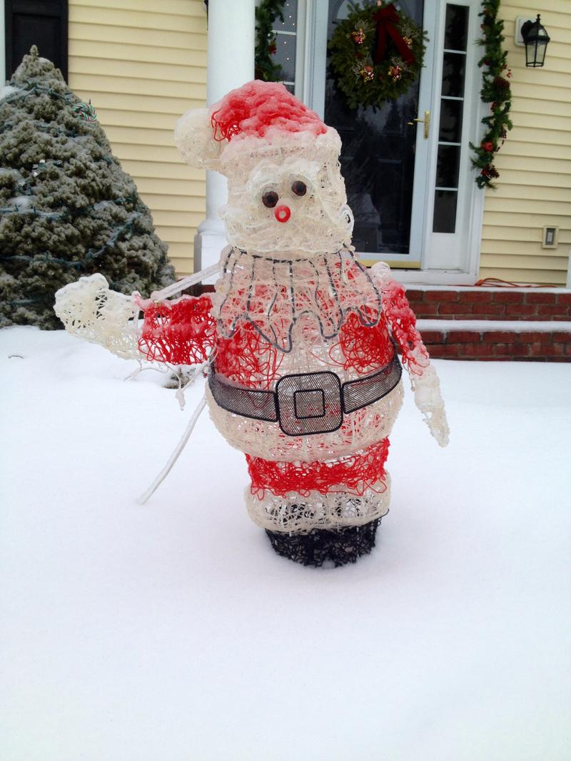 Here comes Icy Claus.