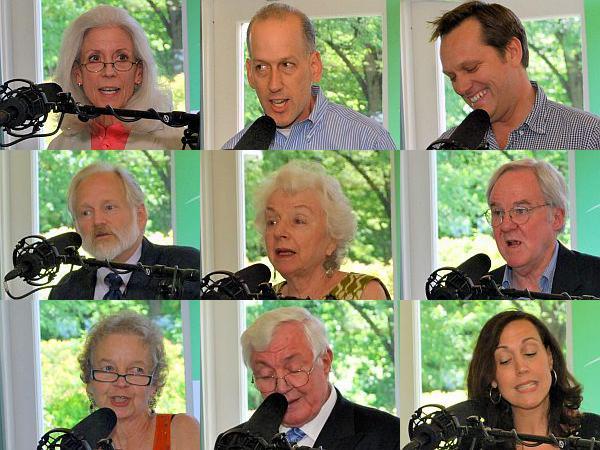 Top l-r Susan Kittredge, Bram Kleppner, Mike Martin, Middle l-r Vic Henningson, Madeleine Kunin, David Moats Bottom l-r Mary McCalum, Barrie Dunsmore, Cheryl Hanna
