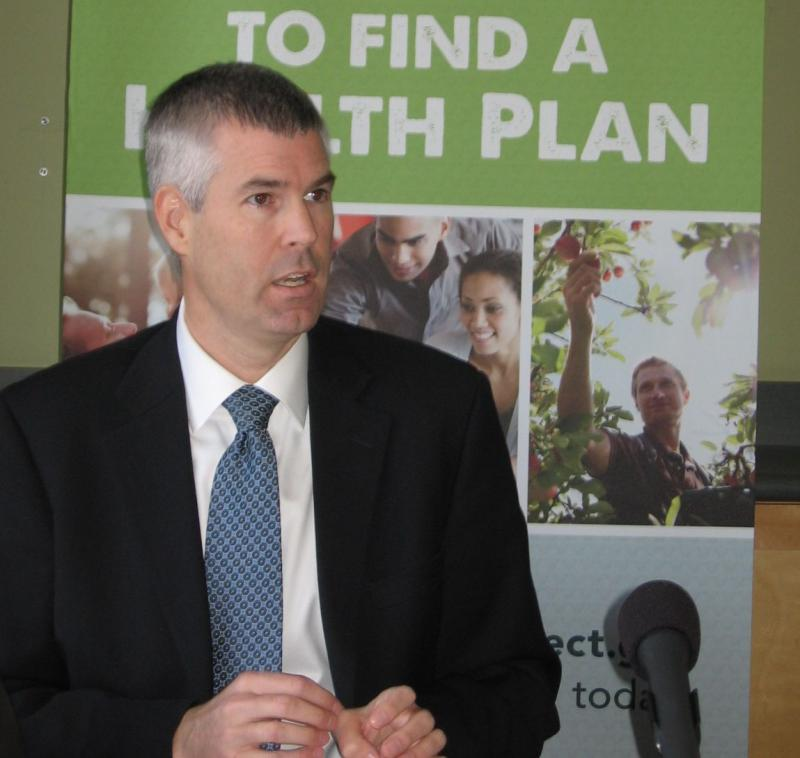 Commissioner Mark Larson of Department of Vermont Health Access at Monday's news conference.