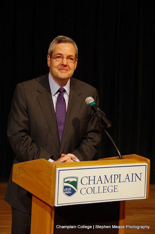 Donald Laackman will become president of Champlain College in July.