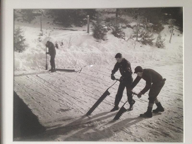 A photograph of ice cutting is part of a collection being stored for the St. Johnsbury History and Heritage Center.