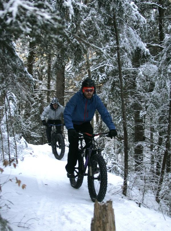 Fat Bikes Navigate Snow Trails In Northeast Kingdom Vermont