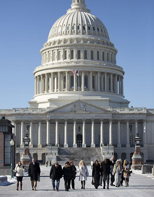 On January 28, foodborne illness victims and their families visit members of Congress on Capitol Hill.