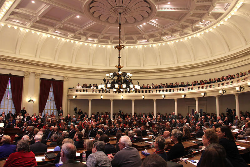 Members of the House and Senate gathered Wednesday for Gov. Peter Shumlin's State of the State address.