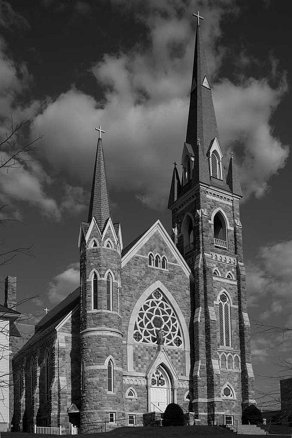 Immaculate Heart of Mary Church in Rutland is one of 18 churches in Vermont designed by George Guernsey.