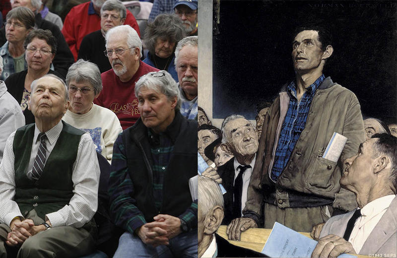 "In many ways, the spirit of town meeting has endured since Norman Rockwell painted his iconic ""Four Freedoms"" in 1943."