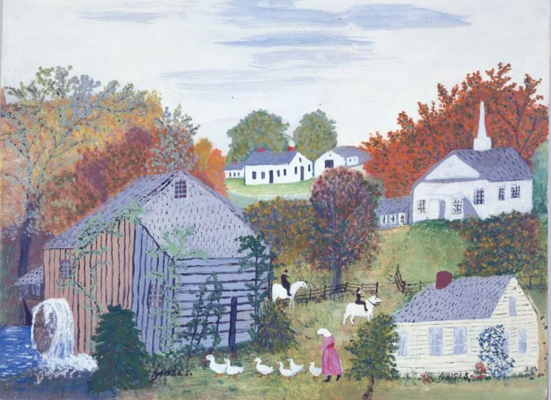 """Autum"", a 1957 work by Grandma Moses"