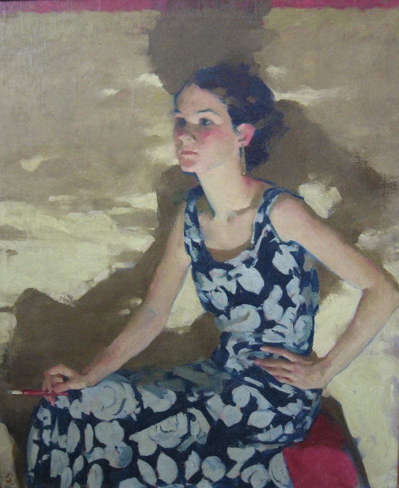 Hilda Belcher's woman with cigarette
