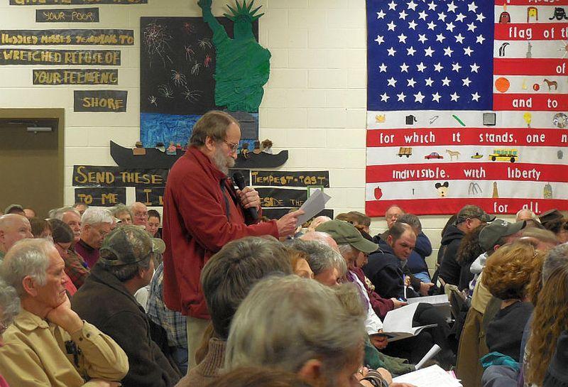 Howard Fairman has financial questions for the Vernon school board.