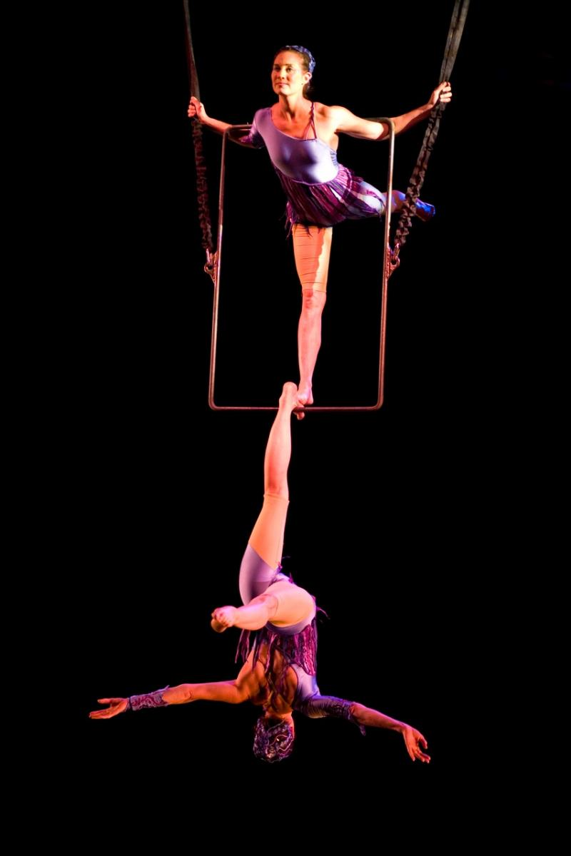 """Twin sisters Elsie and Serenity Smith perform aerial acrobatics in the upcoming """"Circus Spectacular"""" shows."""