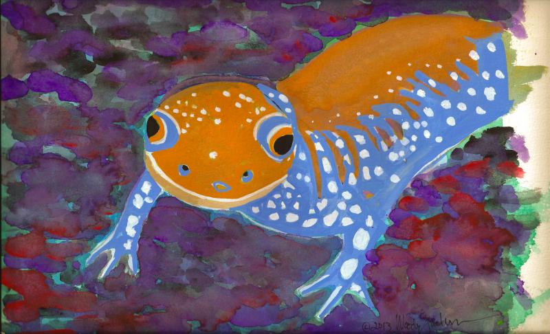 This is one of three paintings Vermont artist Woody Jackson created to support the SOS campaign.