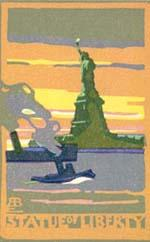 Biennial Woodblock Series: Statue of Liberty