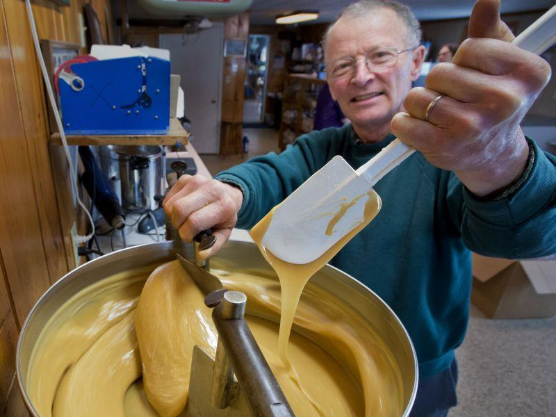 Jacques and Pauline Couture make maple sugar and maple cream at their farm in Westfield.