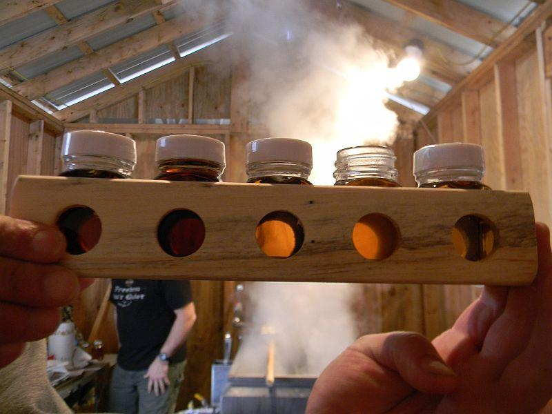 Grading the syrup in Georgia, Vermont