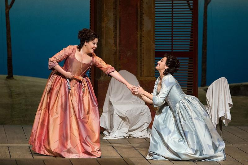 "Susanna Phillips as Fiordiligi and Isabel Leonard as Dorabella in Mozart's ""Così fan tutte."""