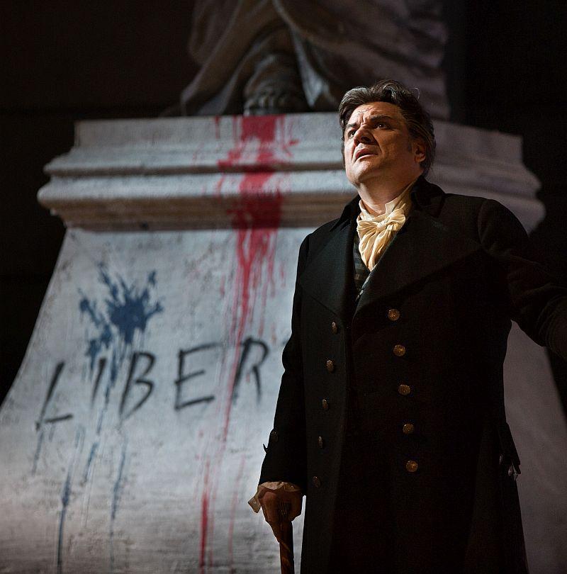 """Željko Lučić as Gérard in Giordano's """"Andrea Cheniér."""""""