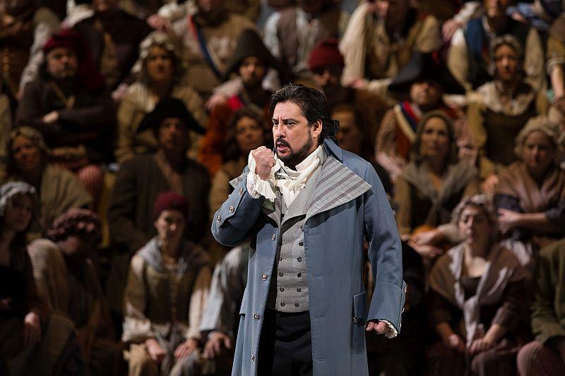 "Marcelo Álvarez as the title role of Giordano's ""Andrea Cheniér."""