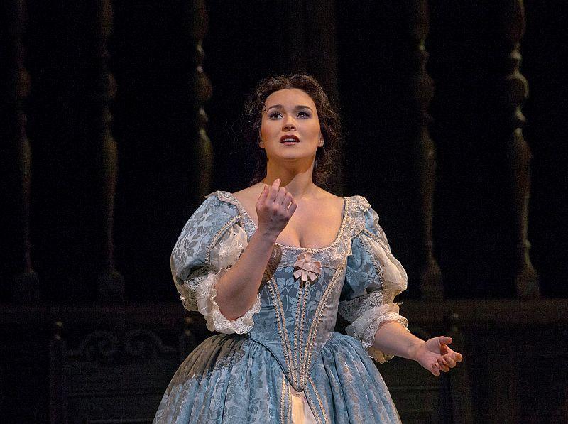 "Olga Peretyatko in her Met debut as Elvira in Bellini's ""I Puritani."""