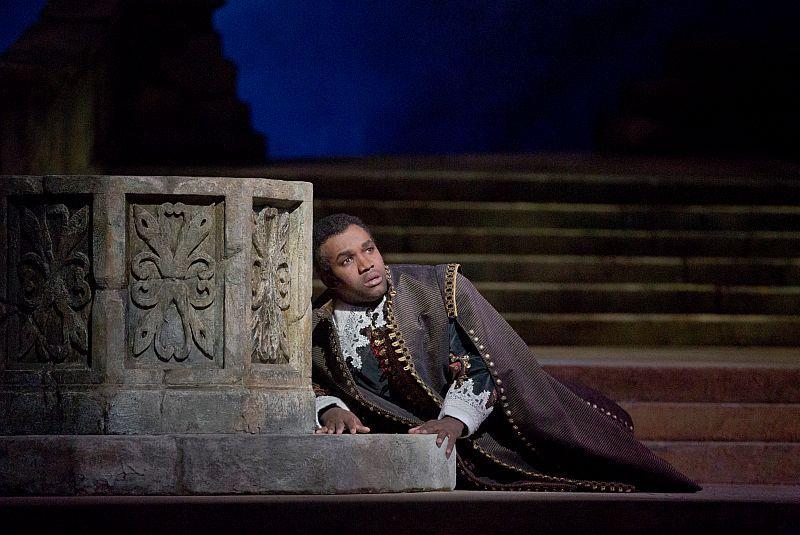"Lawrence Brownlee as Arturo in Bellini's ""I Puritani."""
