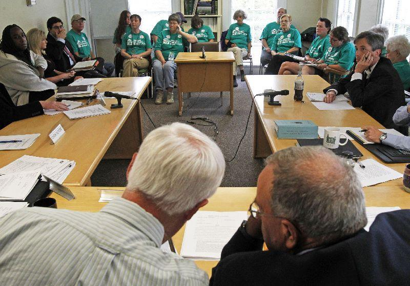 Supporters of Vermont Homecare United-AFSCME line the audience in front of the state Labor Relations Board in June 2013 in Montpelier.