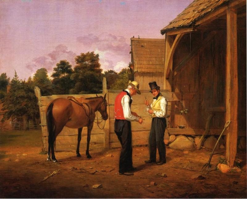 "William Sydney Mount's ""Bargaining for a Horse"""