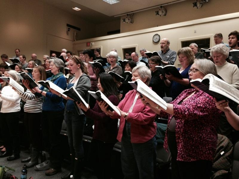 The Handel Society of Dartmouth rehearses the C-Minor Mass, unfinished by Mozart, and completed by Robert Levin.