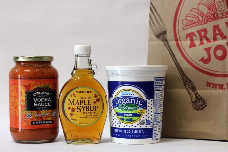 Because Trader Joe's sells the majority of its products under a private label, it's difficult to know which food comes from where. One product that definitely isn't local? This maple syrup, which is a product of Canada.