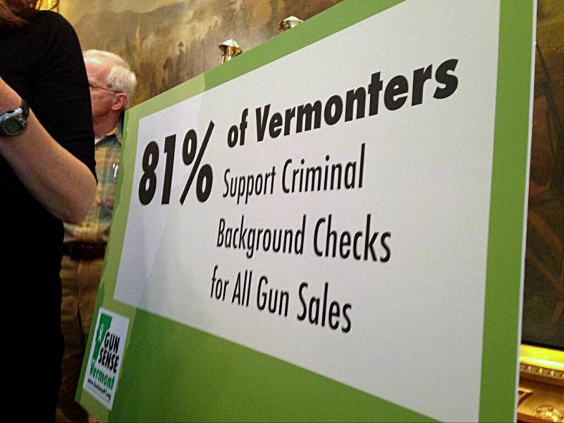 A poll commissioned by the advocacy group Gun Sense Vermont has found that a majority of Vermonters support background checks.