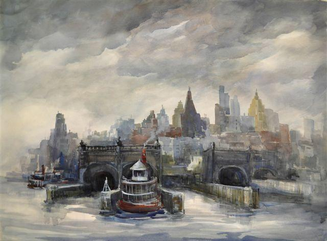 """City In Gray"" by Mary Bryan"