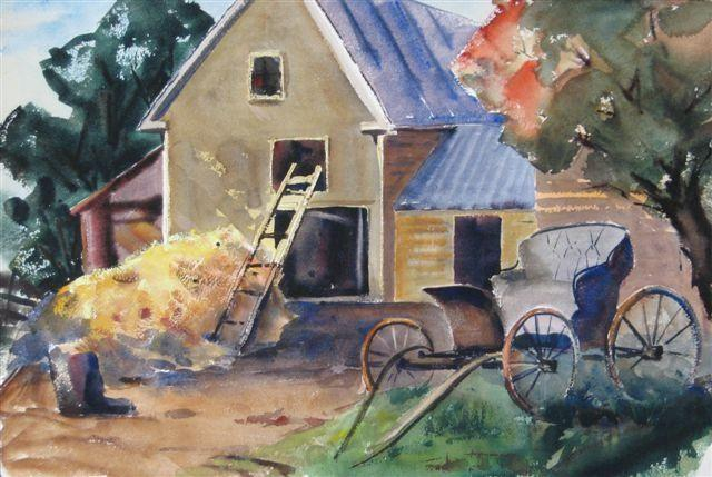 """Fall Barn"" by Mary Bryan"