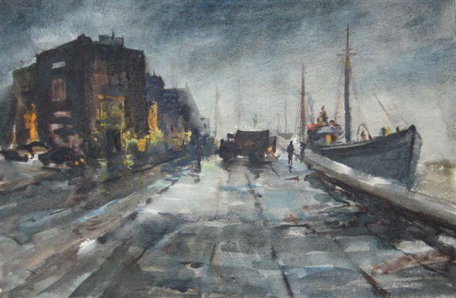 """Gloucester Dock At Twilight"" by Mary Bryan"
