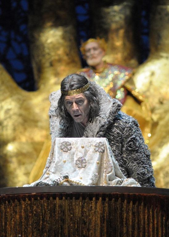 Thomas Hampson as Amfortas. Act 1.