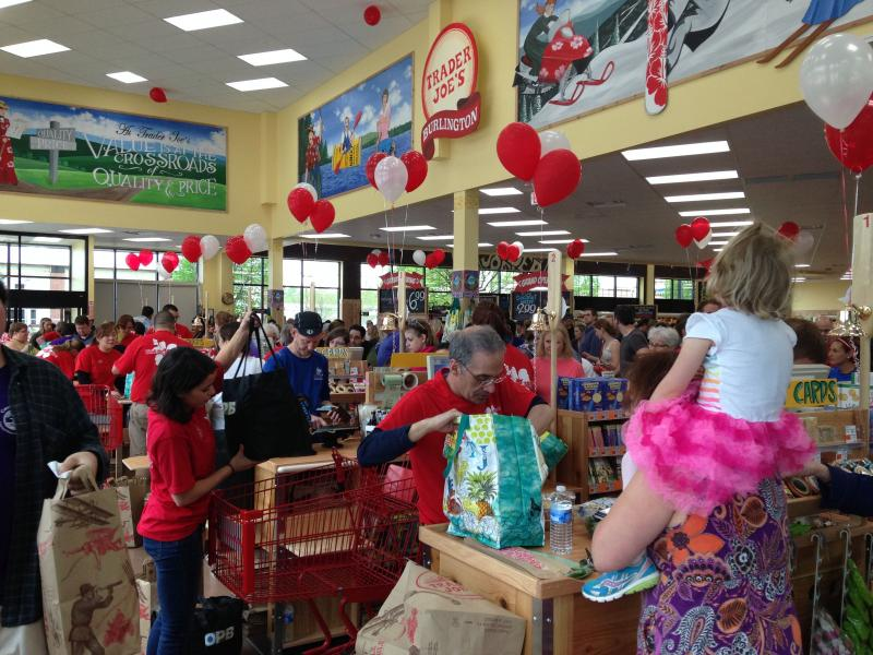Lines form at the new Trader Joe's location in South Burlington.