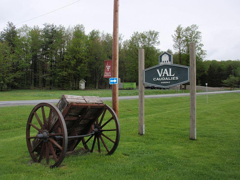The Val Caudalies Winery and Cider Estate sits just a few miles south of Dunham, Quebec's town center.