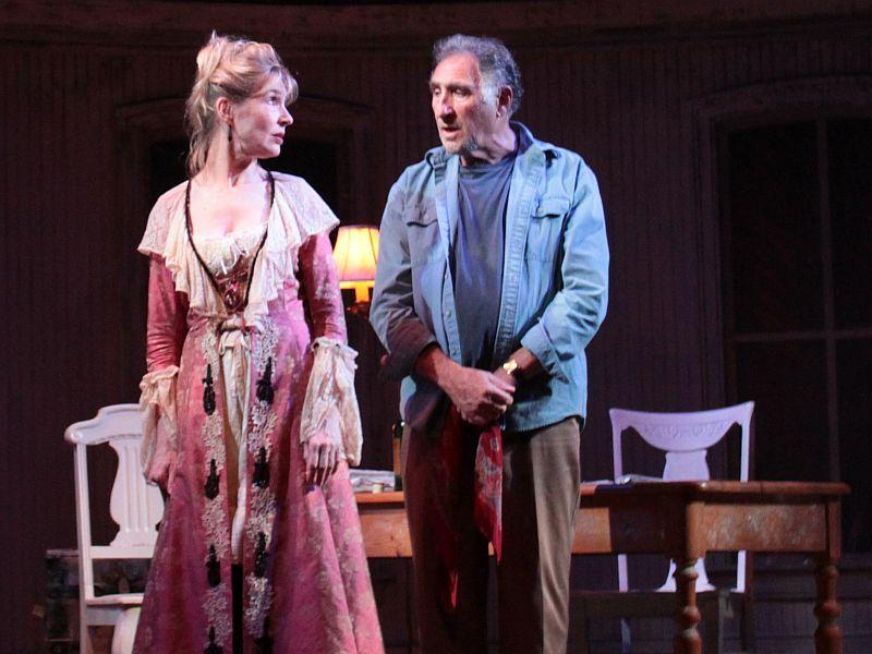 "Janet Zarish and Judd Hirsch perform ""Whore & Mr. Moore"" at the Dorset Theatre Festival."