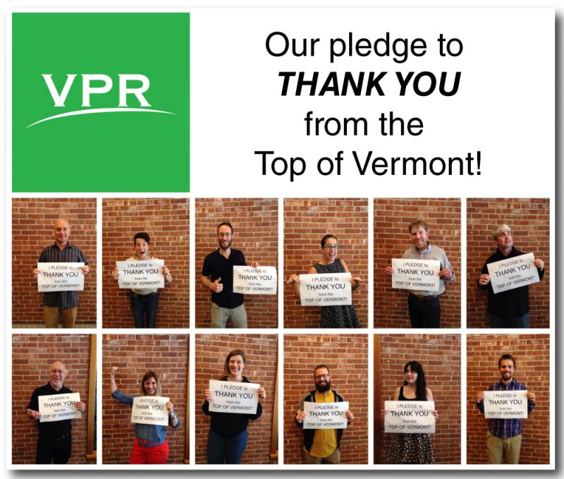 VPR staffers pledge to thank listeners from the top of Vermont - Mount Mansfield - if we make our membership drive goal!