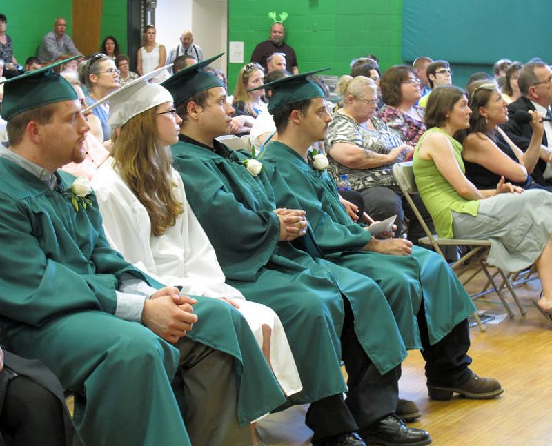 The Austine School graduated a class of four Tuesday, and will not reopen in the fall due to financial problems. Officials say they hope to regroup and re-open in 2016.