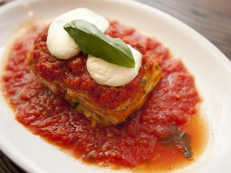 Formaggi Lasagna at Pascolo Ristorante, in downtown Burlington