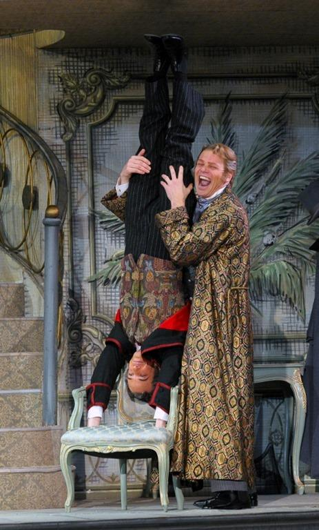 Bo Skovhus and Adrian Erod in the Lyric Opera Of Chicago's production of Die Fledermaus