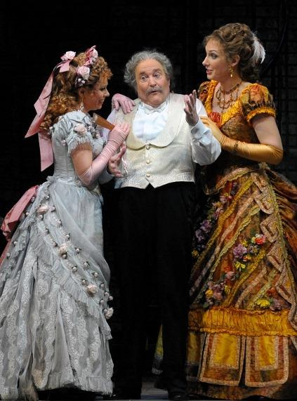 Daniela Fally, Andrew Shore and Julie Ann Miller in the Lyric Opera Of Chicago's production of Die Fledermaus