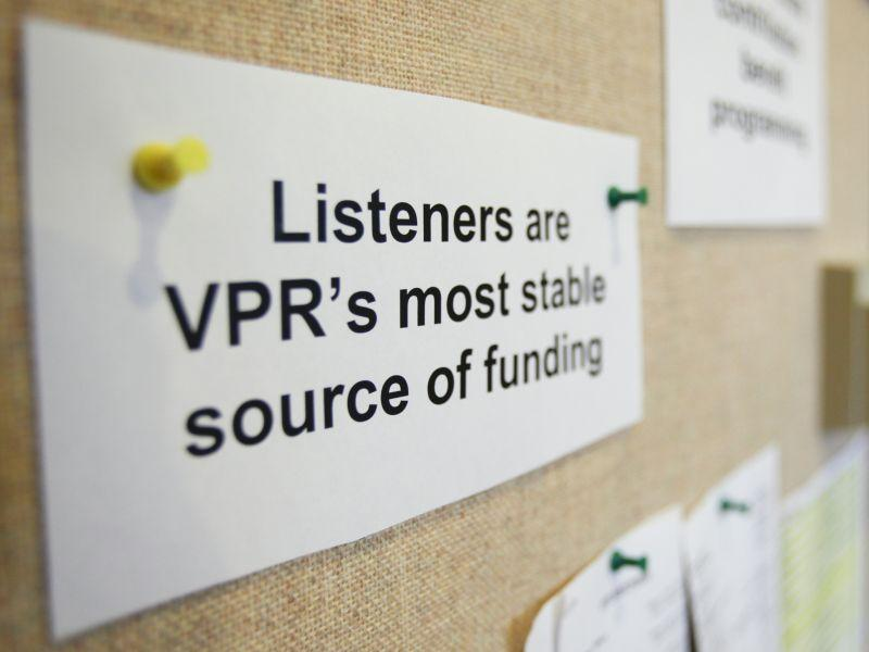 Listeners are VPR's largest and most stable source of funding.
