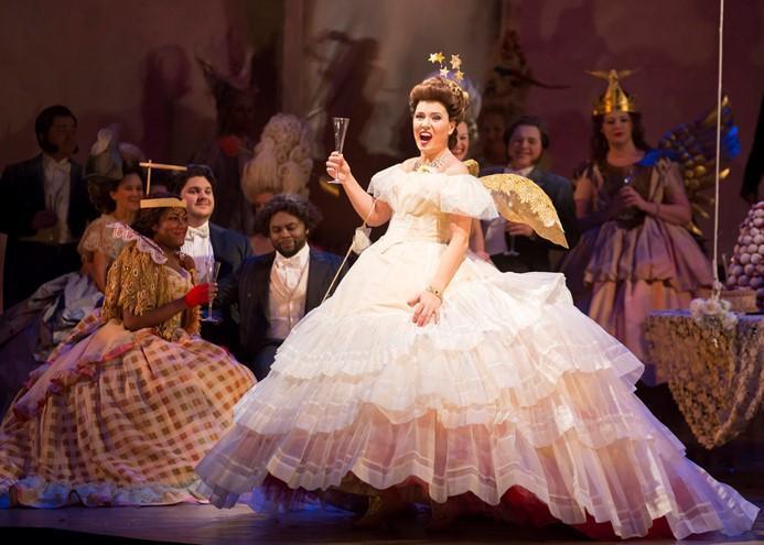 "Marina Rebeka in the Lyric Opera Of Chicago's ""La Traviata"""