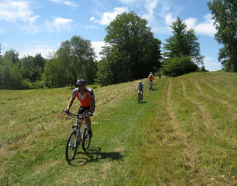 Participants in Sojourn Bicycling Vacations' Vermont Bike & Brew Tour.
