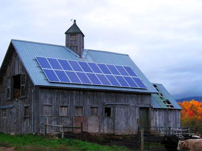 Projects like this solar barn have been completed through the efforts of town energy committees.