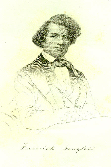 "Frontispiece from Frederick Douglass' ""Narrative."""