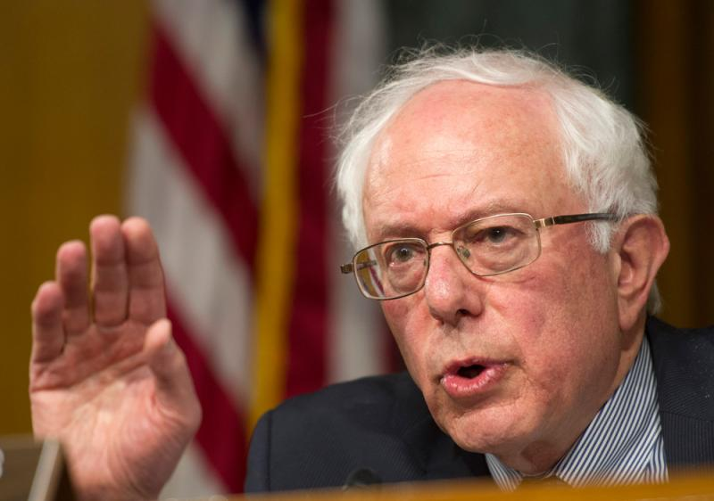 Senate Veterans Affairs Committee Chairman Sen. Bernie Sanders, I-Vt., speaks on Capitol Hill in Washington, during a committee hearing to examine the state of Veterans Affairs health care. (File photo May 15, 2014)