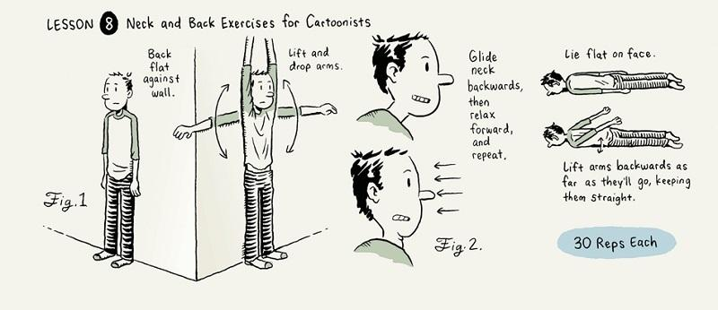 """A humorous drawing offers advice in """"A Guidebook for Cartoon Students"""" distributed at the Center for Cartoon Studies in White River Junction. The center has a new track called Applied Cartooning."""