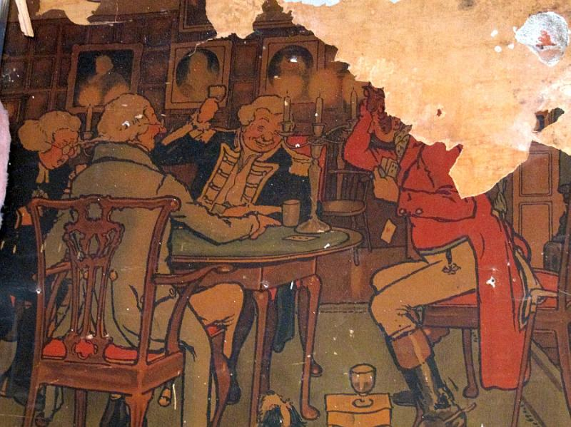 An old mural uncovered during the reconstruction will be part of the decor in a new Main Street restaurant.