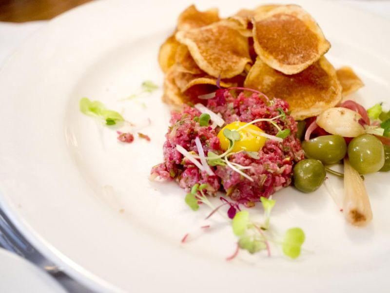 The Kitchen Table Richmond Vt Vpr cafe chefs choice vermont public radio the kitchen table in richmond serves up a colorful dish of vermont steak tartare crispy potatoes and pickles on half pint greens topped with a raw quail workwithnaturefo