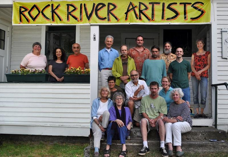 Artists gather at The Old Schoolhouse in South Newfane, the starting point for this weekend's Rock River Open Studio Tour.